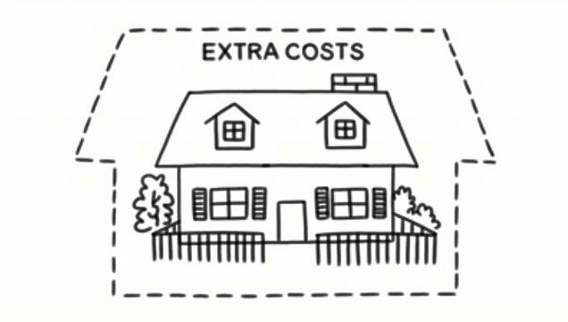 Planning for extra costs when buying a home