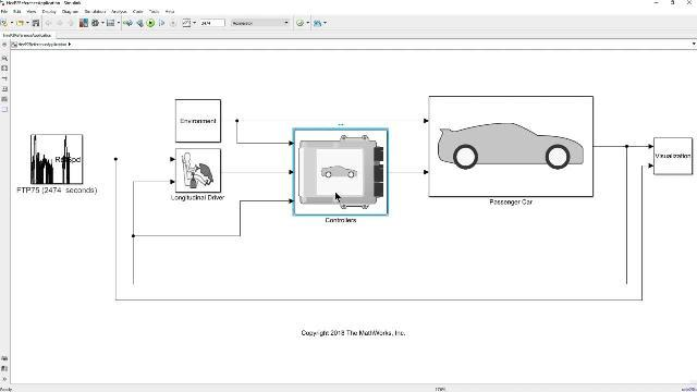 Developing HEV Control Systems Video - MATLAB & Simulink